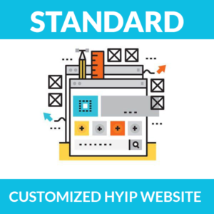 Customized HYIP website – Standard Package