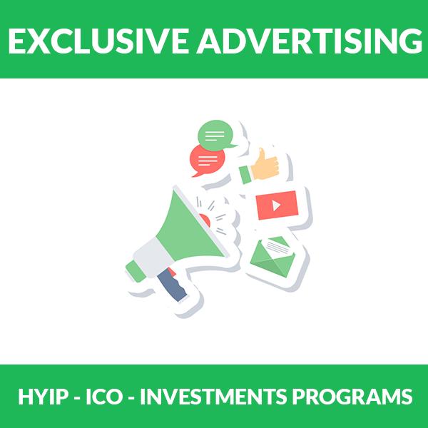 Exclusive hyip Advertising