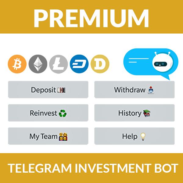 Telegram Investment Bot - Premium