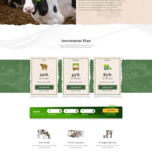 HYIP Template – Investment Business Template GlobalDairies ID 100