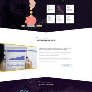 HYIP Template – Investment Business Template MegaBankOnlines ID 102