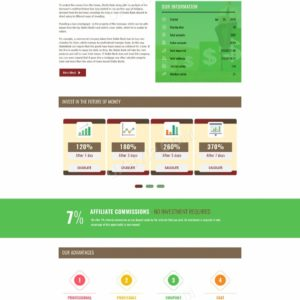 HYIP Template – Investment Business Template RelaxMoneyRains ID 107