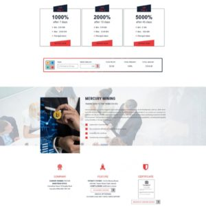HYIP Template – Investment Business Template MercuryMining ID 108