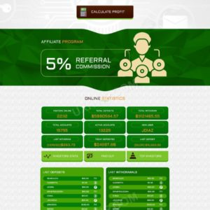 HYIP Template – Investment Business Template RoyalOnlineClub ID 111