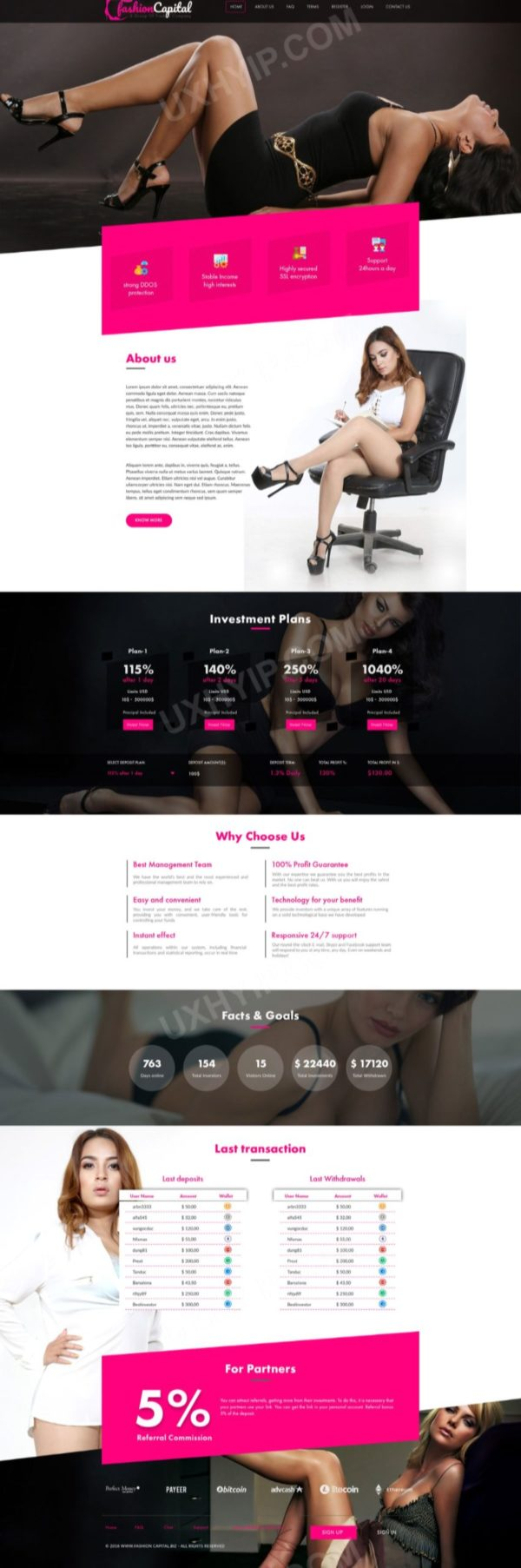 HYIP Template - Investment Business Template FashionCapital ID 112