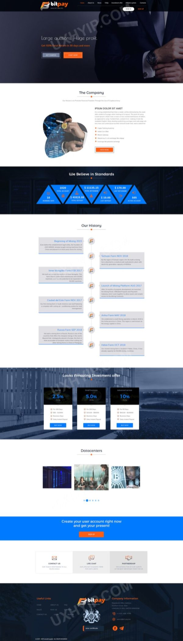 HYIP Template - Investment Business Template BitPay ID 113