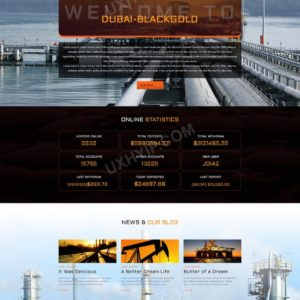 HYIP Template – Investment Business Template DubaiBlackGold ID 114