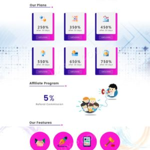HYIP Template – Investment Business Template CryptoKnight ID 124