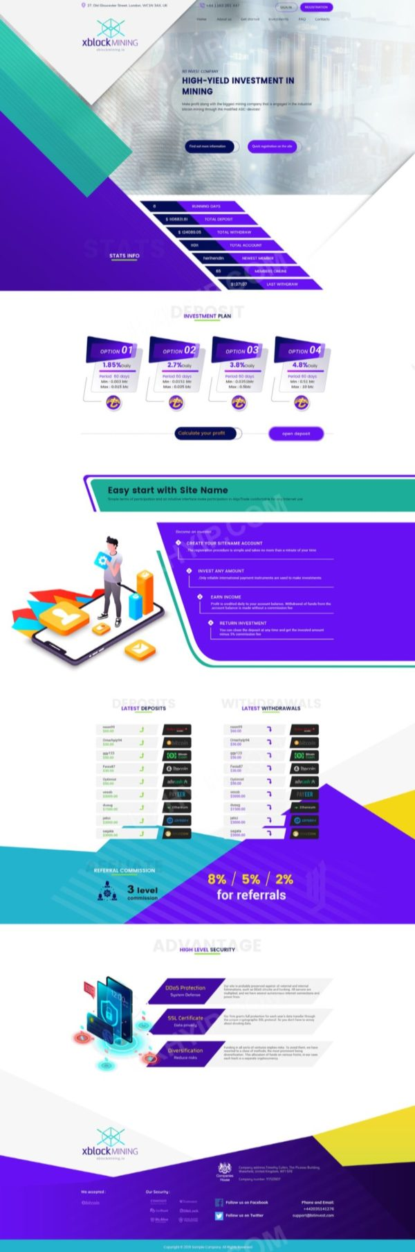 HYIP Template - Investment Business Template XblockMining 126
