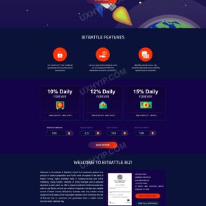 HYIP Template – Investment Business Template BitBattle ID 133