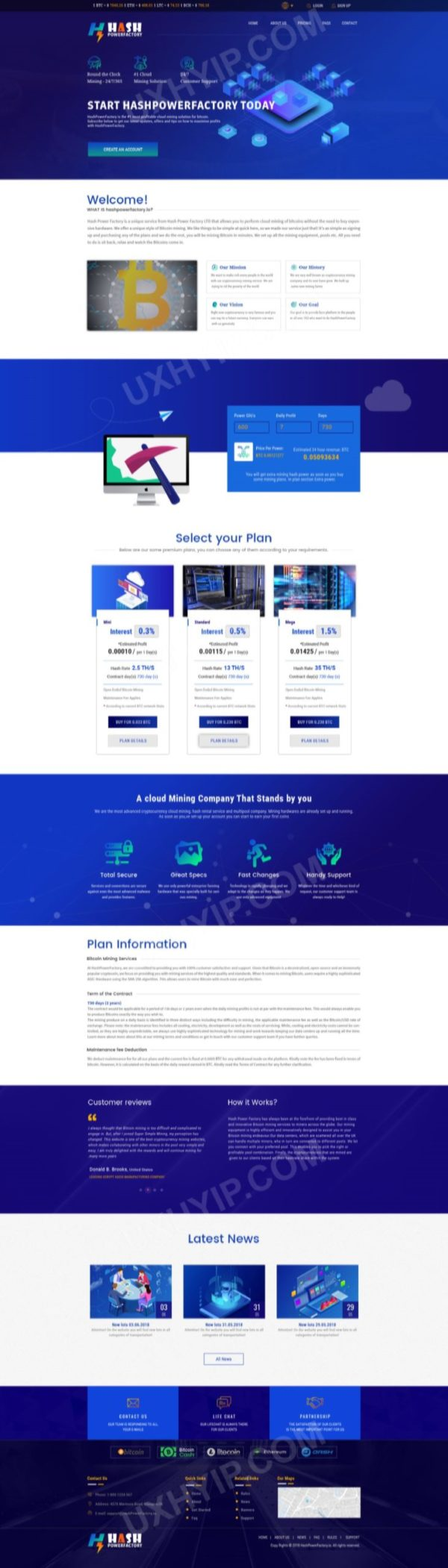 HYIP Template - Investment Business Template HashPowerFactory ID 134