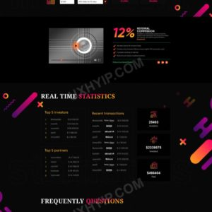 HYIP Template – Investment Business Template MiningBaz ID 154