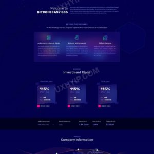 HYIP Template – Investment Business Template BitCoinEasy505 ID 156