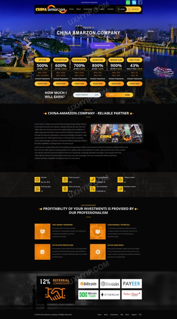 UXHYIP Template 95 ChinaAmazon