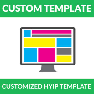 Professional Customized HYIP Template