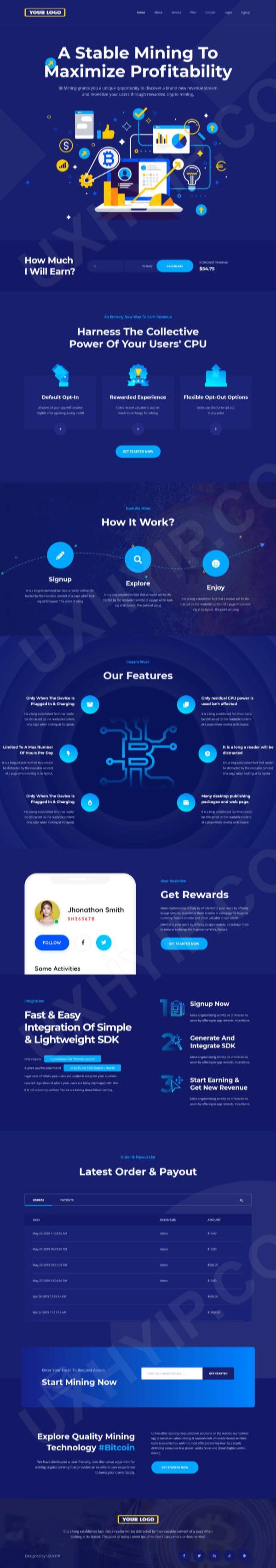 Premium Bitcoin Cloud Mining Script